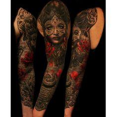 The finished sleeve <3 By Ellen Westholm, Wicked Tattoo Gothenburg, Sweden ellen.westholm@live.se Such talent so stunning