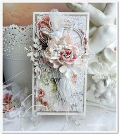 увлеченная скрапом..Card with flower