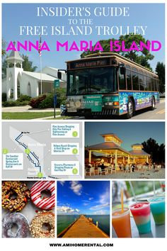 The Insider's Guide to the Free Island Trolley on Anna Maria Island, Florida. Free Download - Trolley Schedule - Read about our favourite stops for shopping, restaurants, beaches, surfing, and lots more tips. Click the 'Read it' button for all the details