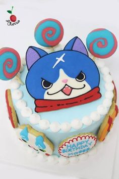 Yo-Kai Watch Birthday Cake Yokai icing cookies decoration
