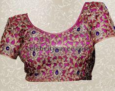 Thread Work Silk Blouses | Saree Blouse Patterns