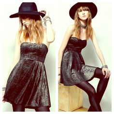 FREE PEOPLE Sequin Pleated A Line Dress NWT NWT AND STUNNING! Retail $98. Color is Black.  Short cocktail dress. Embellished. Body conscious Bandage. Bodycon Top, Flare Skirt. Free People Dresses Backless