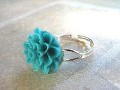 Resin flower jewelry