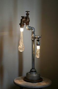 Dripping water faucet lamp - for a really nice bedroom.