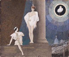 Jeune éphèbe adossé à une colonne et son page accroupi à ses pieds by André Lambert