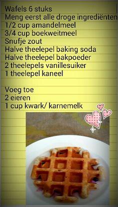 Zalige gezonde wafels Waffles, Healthy Recipes, Breakfast, Food, Morning Coffee, Essen, Waffle, Healthy Eating Recipes, Meals