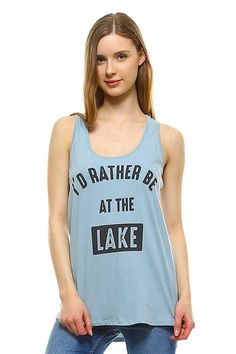 I'd Rather Be at the Lake Tee #a-day-at-the-lake #beach #boating