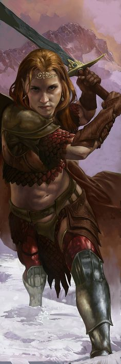Female Warrior. Shar Picture (2d, fantasy, girl, woman, warrior).