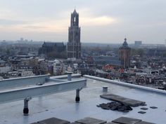 Utrecht morning view from the rooftop of TivoliVredenburg