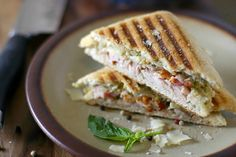 Turkey and Bacon Pesto Panini (A great way to use that leftover Thankgiving turkey!)