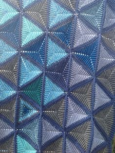 Ravelry: Project Gallery for Triangles Afghan pattern by Ellen Gormley