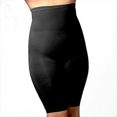bcd4bfc113 Body Wrap - Plus Size Seamless Control High Waist Long Thigh Panty Shaper  Black at Amazon Women s Clothing store