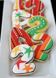Beautiful number cookies. Cookies with Character.