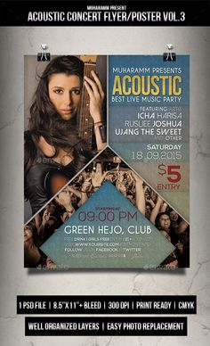 Acoutic Concert Flyer / Poster - Events Flyers