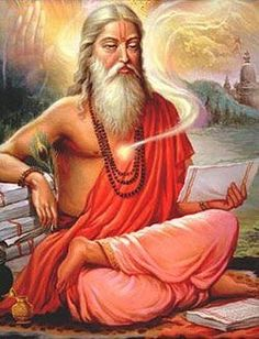 """The source of India's spiritual tradition were the Vedic Rishis, or enlightened sages who cognized the Vedas. The word """"rishi"""" means """"seer."""" The rishis did not invent the Vedas, they cognized them,. Indian Saints, Saints Of India, Om Namah Shivaya, Tantra, Tibet, Namaste, Vedic Astrology, Sanskrit, Indian Art"""