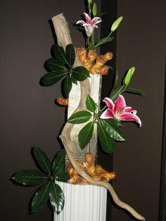 Walters Art Blooms Arrangement  My interpretation of a large Mayan statue