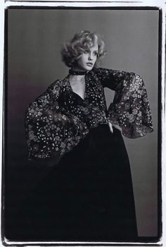 Jessica Lange, looking every inch the Biba Girl. 1974 . Photo by Ed Pfizenmaier.