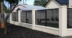 Modern Fencing - Modern - Home Fencing And Gates - Adelaide - by Hindmarsh Fencing & Wrought Iron Security Doors House Fence Design, Modern Fence Design, Gate Design, Modern Gates, Wrought Iron Security Doors, Wrought Iron Fences, Home Fencing, Garden Fencing, Modern Minimalist House