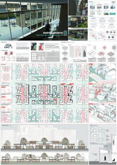 Social Housing, Typographic Design, Panel, Urban Design, Architects, Presentation, Diagram, Floor Plans, Layout