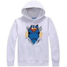 Superman special designed logo pullover hoodie