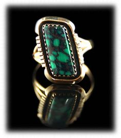 Damele Turquoise and Gold Ring For Women