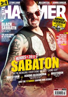 MHR292 Sabaton cover from 2016 for Metal Hammer Magazine in the UK. With photographer Justin Borucki.