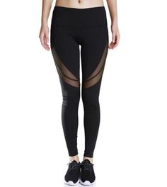 Women Yoga Pants Plus Size High Elastic Waist Mesh Fitness Leggings Quick Dry Running Tights Gym Compression Pants Red Black