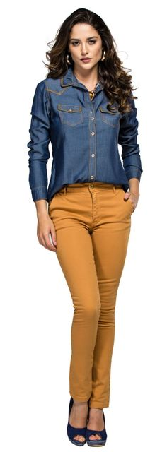 A nice Dusty Orange for both Soft Autumn types, the light/Tinted and the dark/Toned Autumn. Classy Outfits, Fall Outfits, Casual Outfits, Cute Outfits, Casual Chic, Casual Wear, Smart Casual Wardrobe, Mode Hijab, Work Attire
