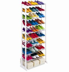 New 30 Pair Home Closet Storage Organization Racks Tall Stand 10 Tier Metal Big #SuperHappyDeal