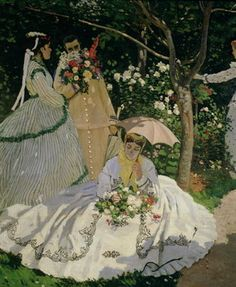 Women in the Garden, detail of a Seated Woman with a Parasol, 1867 by Claude Monet