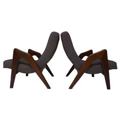 Pair of Lounge Chairs by Adrian Pearsall for Craft Associates | From a unique collection of antique and modern lounge chairs at http://www.1stdibs.com/furniture/seating/lounge-chairs/