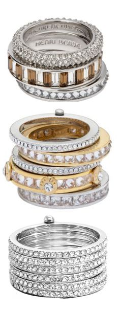 shop henri bendel for hot designer rings like the deluxe hand me down stack ring. we have the latest fashion rings for ladies including jeweled and metal rings. Jewelry Box, Jewelry Accessories, Fashion Accessories, Jewelry Design, Jewelry Rings, Henri Bendel, Bling Bling, Fashion Rings, Fashion Jewelry