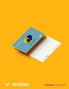 Greeting card : Egy tárgyalás vagy egy interjú után fontosnak  tartjuk, hogy személyes üzenettel tegyük szebbé a másik napját :) Ennek a kis névjegykártyának a hátuljára szoktuk felírni rövid gondolatainkat :)  #randstad #randstadhu #greeting #card #bettertogether #mockup #graphic #design