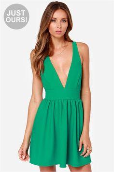 LULUS Exclusive High Score Green Dress at LuLus.com!