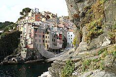 View at Riomaggiore in Cinque Terre in Italy