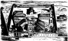 Bird's Eye View of Darlinghurst Prison 1866