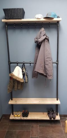Coat Rack Bench, Hallway Storage, Wood Clocks, Wooden Walls, Pattern Blocks, Bedroom Sets, Wall Shelves, Entryway Decor, Sweet Home