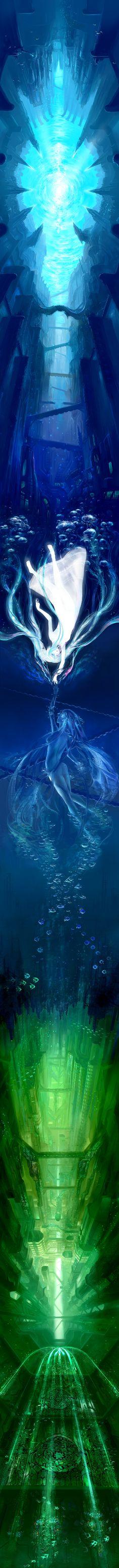 underwater... by 電鬼(Denki)