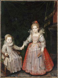 Portrait de Philippe Emmanuel de Croÿ (1611-1670) et de sa soeur Marie (morte en 1696), vers 1615, par Frans Pourbus le Jeune (1569-1622)