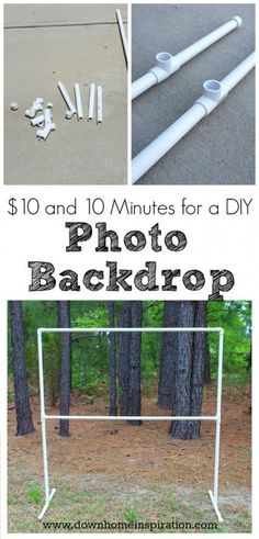 Diy Photo Backdrop Stand 10 And 10 Minutes Pvc