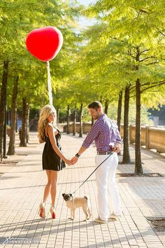 Red balloon engagement shoot with the couple's dog! Engagement Photo Inspiration, Engagement Pictures, Engagement Shoots, Wedding Pictures, Wedding Inspiration, Engagement Ideas, Couple Photography Poses, Engagement Photography, Wedding Shoot