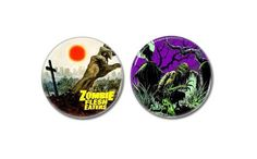 Zombies Rise! buttons.  #31mm #pins #badges #horror