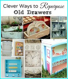 Don't throw out the drawers from that old dressers. There are so many creative ways to repurpose those drawers. Check out these clever ideas for repourposing old drawers! Furniture Projects, Furniture Makeover, Diy Furniture, Painted Furniture, Inexpensive Furniture, Furniture Websites, Furniture Removal, Garden Furniture, Diy Projects To Try