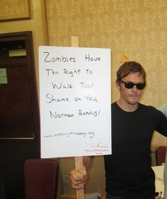 Norman Reedus clearly has a sense of humor...