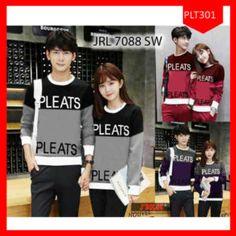 Sweater Couple Pleats Kombinasi Terlaris 78545e6d12