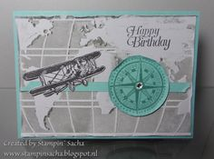 Stampin' Sacha - Stampin' Up! - Going Global - Sky is the Limit - mannenkaart - Occasions Catalog 2016 - Sale-A-Bration