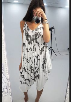 Carlah white marble printed hareem jumpsuit