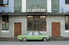 lovely green car