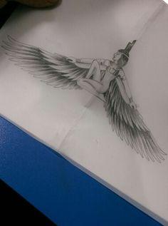 Goddess İsis dövme tasarımı
