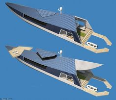 The yacht also has an extendable cover to provide shade or protect from the rain, and the ...